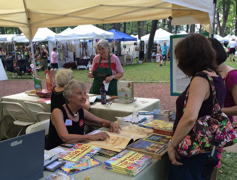 Author's Table at Tinicum